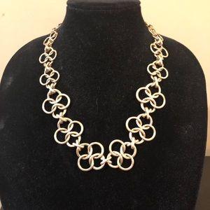 Brushed gold link necklace